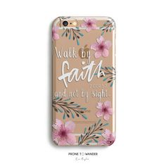 H140-FAITH in BLOOM - Freehand - TPU CLEAR CASE – Prone to Wander