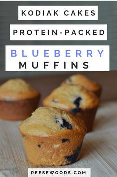These aren't your grandma's blueberry muffins. These protein muffins are low-fat, melt in your mouth delicious. Full macros listed in post! Protein Powder Muffins, High Protein Muffins, Blueberry Protein Muffins, Low Fat Protein, Protein Cake, Protein Powder Recipes, High Protein Recipes, Protein Snacks, Blue Berry Muffins