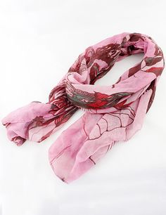 Red Fashion Floral Scarves
