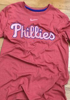 Nike Philadelphia Phillies Mens Red Tri Wordmark Short Sleeve Fashion T  Shirt ae9a57943