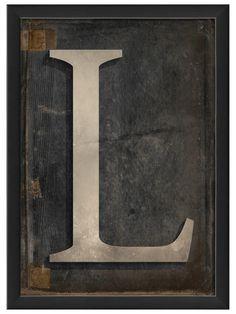 Letter L by Artwork Enclosed at Gilt