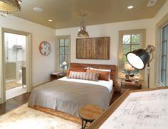 rustic natural boys bedroom