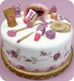 Pretty make up cake