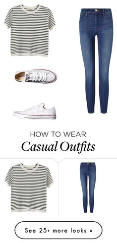 """Casual"" by samanthavlahakis on Polyvore featuring Chicnova Fashion, Frame Denim and Converse"
