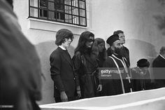 EVGENIA GL  Jacqueline Kennedy Onassis attends the funeral of...