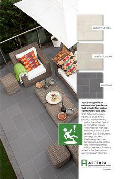 MSI's Arterra Porcelain Pavers are durable, low maintenance and high design. Use for outdoor design projects including patios, driveways, pools, and more.
