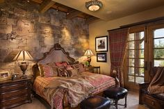 Great bedroom in the mountain house.