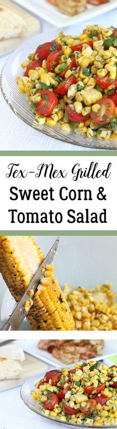 Tex-Mex Grilled Sweet Corn & Tomato Salad