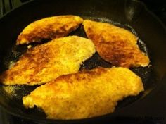 Sauteed Chicken Cutlets with a Garlic White Wine Sauce