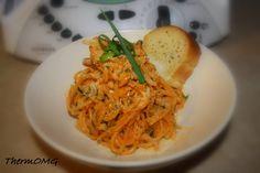 Creamy Zucchini, Garlic and Pinenut Pasta