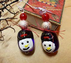 Christmas earrings Christmas Earrings, Christmas Jewelry, Seasons Of The Year, Christmas Bulbs, Holiday Decor, Home Decor, Decoration Home, Christmas Light Bulbs, Room Decor