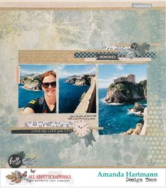 Memories, by Amanda Hartmann (All About Scrapbooks Australia) Scrapbook Blog, Scrapbook Designs, Scrapbooking Layouts, Scrapbook Pages, Picture Layouts, Project Life, Scrapbooks, Travel Photos, Amanda