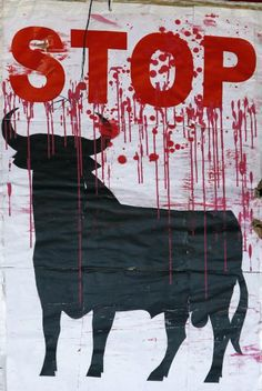 Anti-Bullfighting art. Taringa! is the largest social network ever created in Latin America.