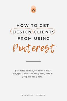 How to get more design clients from using Pinterest. Book out your services simply by using effective Pinterest strategies that I talk about in this blog post. Once you make the changes to these common Pinterest mistakes I see many designers make, you'll start attracting your ideal clients in no time! Read the blog post now. | booking out clients | common Pinterest mistakes | Pinterest marketing | Pinterest strategy tips | #bookingclients #designbusiness #pinterestmarketingtips… Small Business Marketing, Business Branding, Business Design, Creative Business, Online Business, Marketing Software, Email Marketing, Social Media Marketing, Business Quotes