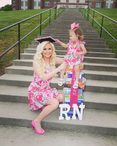 Nursing RN graduation pictures  Me and my daughter
