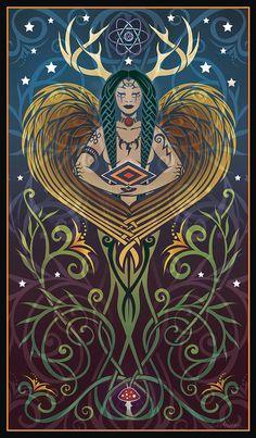 Horned goddess Elen?
