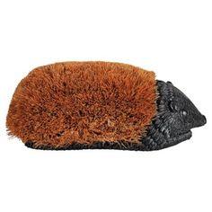 """One Kings Lane! 15"""" Hedgehog Boot Brush, Brown"""