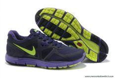 Discounts 454164-008 Nike Lunarglide 3 Purple Fluorescence Green Mens