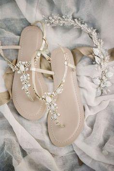 27 Wedding Sandals You'll Want To Wear Again ❤ See more: http://www.weddingforward.com/wedding-sandals/ #weddings