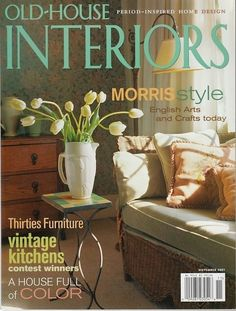 Old House Interiors Magazine November 2001 William Morris Style Arts Crafts