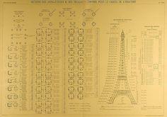 Planos originales de la Torre Eiffel, via Flickr / Original plans of the Eiffel Tower, via Flickr