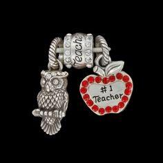 Teacher Charm 3 pc. set  available at #Brighton #WinOurHearts