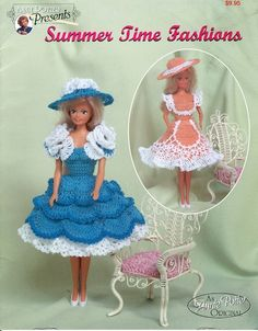 Dress Crochet For Barbie Summer Time Fashions