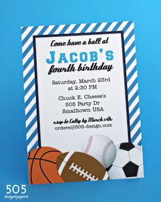 All star sports invitation printable or printed with free shipping free printable birthday invitations for boys sports filmwisefo