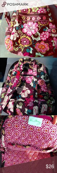 Vera Bradley backpack *Mod Floral Pink* Adorable print, excellent shape. No fading, stains, odors. Vera Bradley Bags Backpacks