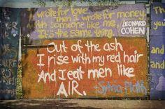 Sylvia Plath Leonard Cohen graffiti poetry