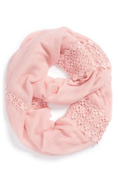 Hinge  Lace Trimmed Infinity Scarf available at #Nordstrom