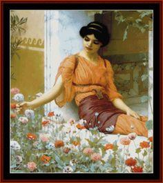 Summer Flowers - Godward cross stitch pattern by Cross Stitch Collectibles