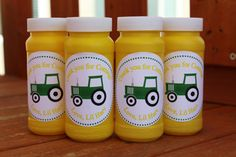 Personalized Tractor Themed Party Bubbles-Set of 12, Birthday Party Favors, Party Bubbles, Party Favors on Etsy, $15.00