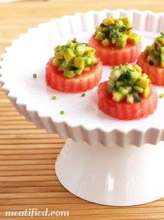 Avocado Watermelon Bites from http://meatified.com #paleo #autoimmunepaleo