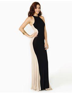 1df692e91f9 Contrast Colorblock Patchwork Long Maxi Dress. Women s DressesHalter ...