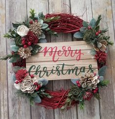 @curiouscountry posted to Instagram: Another great way to use Sola Flowers for your Christmas decorating! Dye them red and green, add eucalyptus, berries and other greenery on a painted red vine wreath form. What a stunning welcome! Order your wood flowers now! Photo credit: @tintedvintageiowa #christmas #naturaldecor #christmasdecor #winterdecor #holidays #holidaydecor #christmas2020 #christmastree #winter #christmaseve #christmasdinner #holidaydecorating #holidaydecor #christmasdecorating #h