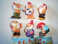 Kinder Surprise Set Bathroom Garden Dwarfs Lawn Gnomes Europe 1993 Figures | eBay