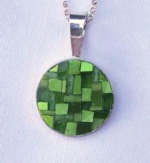Margo Anton's Mosaic a Day Lime Pendant