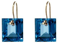 One Kings Lane - Enchanting Elements - London Topaz Mini Baguette Earrings
