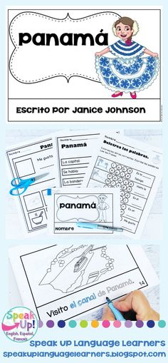 Panamá Reader Panama {en español} & Vocab pages ~ Simplified Bilingual Classroom, Spanish Classroom, Spanish Immersion, Hispanic Heritage Month, Spanish Culture, Emergent Readers, Dual Language, Student Reading, How To Speak Spanish