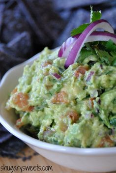Guacamole: chunky, delicious and perfect I just hate it when people mash avocados and call it guacamole...those are just MASHED AVOCADOS.