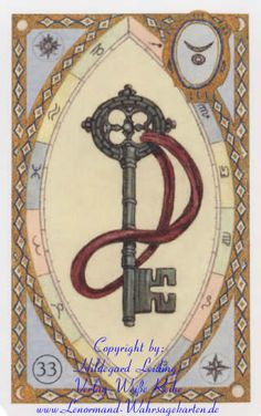 The Key - Astrological Lenormand fortune telling cards