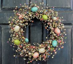 Easter Wreaths  Easter Egg & Berry Wreath  Spring by Designawreath, $62.95
