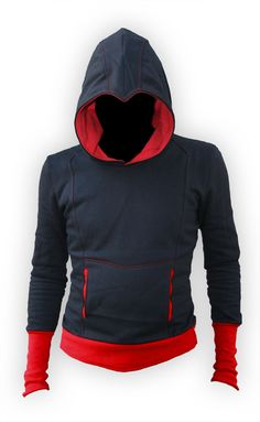 Assassin's Creed-themed hoodie. The maker customizes the colors on request. $90 but you can pay extra for a zipper. fits right in to my love of hoodies
