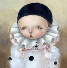PIERROT, Dilkane Nassyrova (aka Dilka Bear or Dilkabear) was born in Alma-Ata, Kazakhstan (USSR) in 1977; lives and work in Triste, Italy