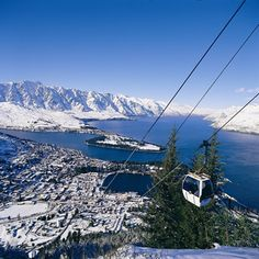 The Gondola in Queenstown, NZ. Surrounded by majestic mountains and nestled on the shores of crystal clear Lake Wakatipu, Queenstown is New Zealand's premier four season lake and alpine resort. New Zealand Adventure, New Zealand Travel, The Places Youll Go, Places To See, Wonderful Places, Beautiful Places, Peaceful Places, New Zealand Holidays, Queenstown New Zealand