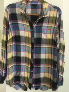 daa8f4c6214bf Talbots Size Small Womens Plaid Long Sleeve Blouse Top Shirt