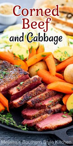 Make this mouthwatering Corned Beef and Cabbage with carrots and potatoes to complete your St Patrick's Day meal #cornedbeef #cornedbeefandcabbage #StPatricksDay #beef #beefbrisket #southernrecipes #cabbage #cornedbeefandcabbage What Is Corned Beef, Corned Beef Brisket, Savoury Dishes, Tasty Dishes, St Patricks Day Food, Saint Patricks, Homemade Horseradish, How To Cook Corn, Fried Beef