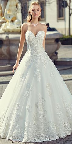 Fabulous Tulle Sweetheart Neckline A-line Wedding Dress With Lace Appliques & Beadings