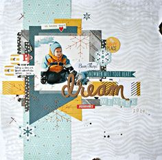 #papercrafting #scrapbook #layout - Boys Rule Scrapbook Kits